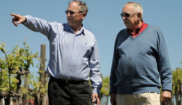 Sandy Oatley (left) and the late Bob Oatley