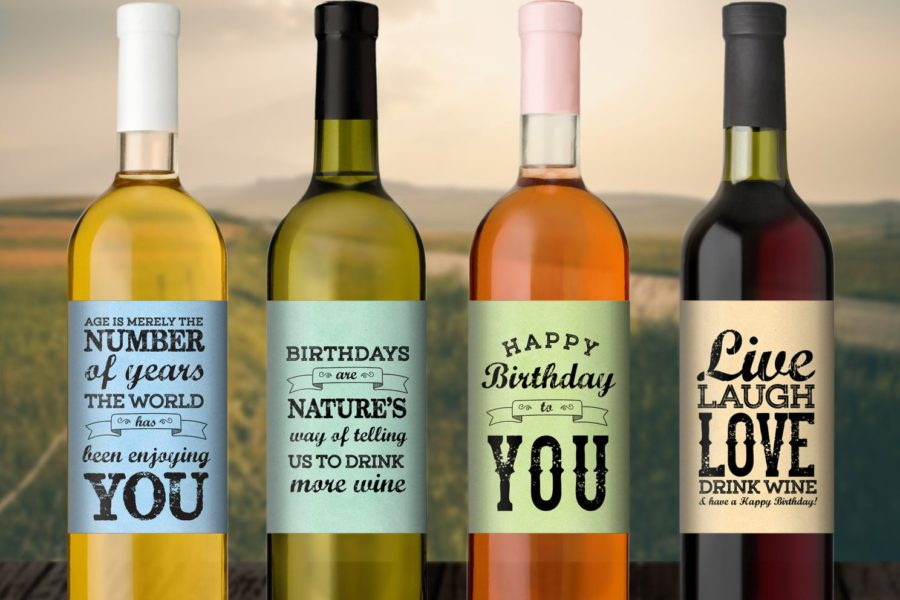 This is an image of Handy Personalised Red Wine Label