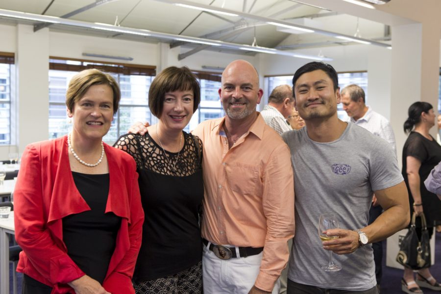 The NZSWP Founding Committee from L-R: Celia Hay, Karen Fistonich, Cameron Douglas MS, Stephen Wong MW.
